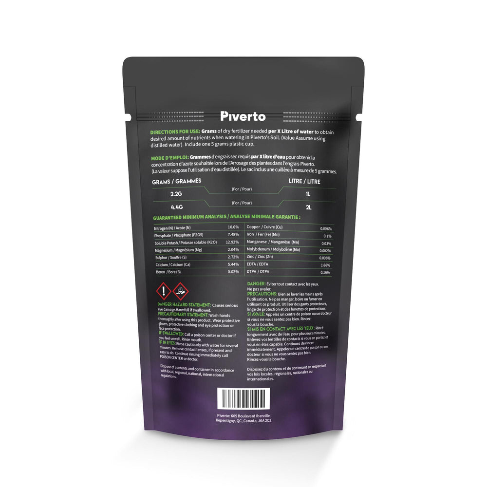Piverto CalMag Plus Grow Nutrients - pivertoindoorgrowing