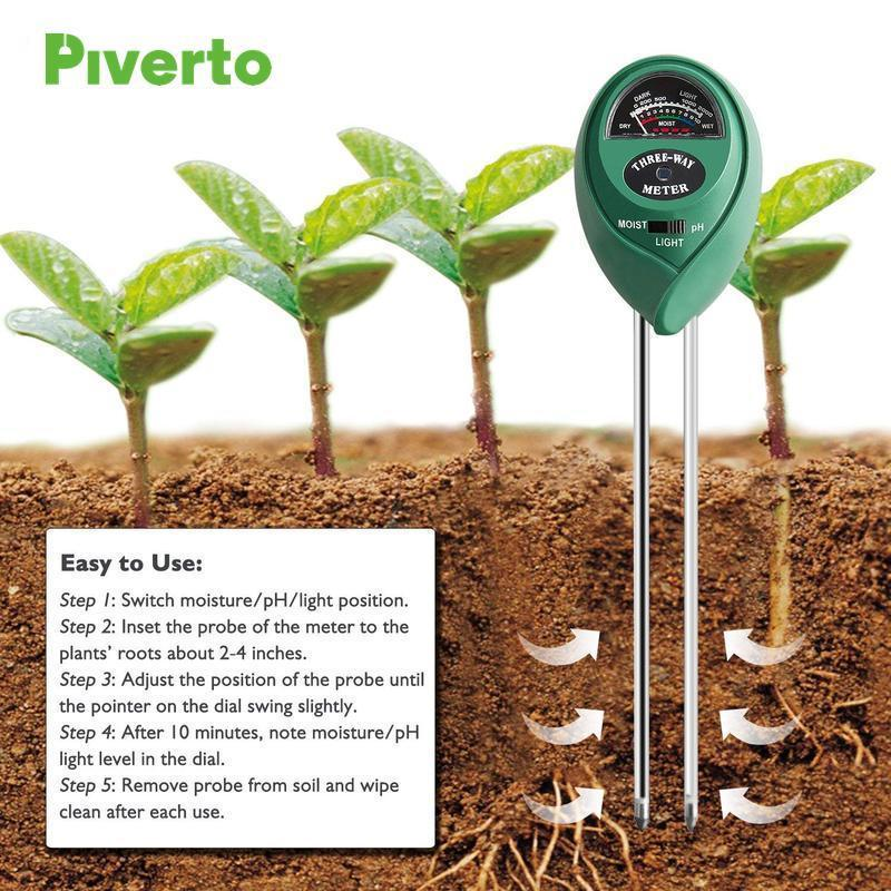 3 Way Moisture/Light/Ph Meter - pivertoindoorgrowing