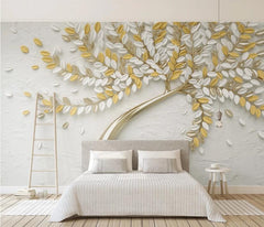 Custom White flower big tree Photo mural Wallpaper