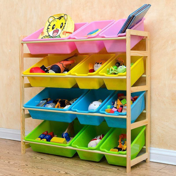 Licious Toy Shelf With Bins
