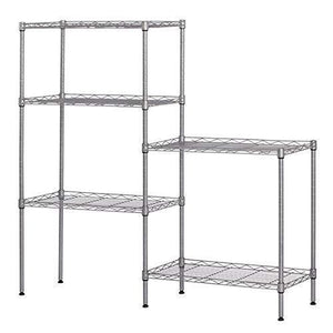 Budget 5 tier wire shelving units heavy duty adjustable stacking shelves storage rack organizer for laundry bathroom kitchen pantry us stock