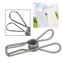 Load image into Gallery viewer, Results lystaii 80pcs stainless steel clothes pins utility clips hooks clothespin clothesline clip 2 2inch for outdoor indoor drying home laundry office cord clothespins kitchen tools fastener socks scarfs
