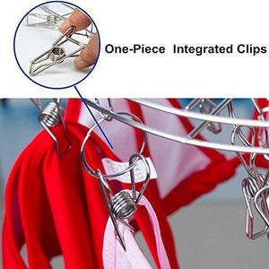 Explore amagoing hanging drying rack laundry drip hanger with 20 clips and 10 replacement for drying socks baby clothes bras towel underwear hat scarf pants gloves