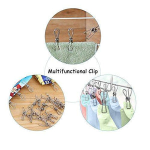 Exclusive 120 pack stainless steel cloth pin 2 2 inch clothesline hook for socks towel bag scarfs hang drying rack tool laundry kitchen cord wire line clothespins pegs file paper bookmark s binder metal clip