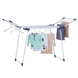 Great yubelles gullwing multipurpose clothes drying rack dark grey rustproof collapsible stable durable laundry rack