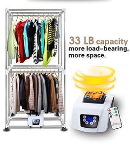 Results manatee clothes dryer portable drying rack for laundry 1200w 33 lb capacity energy saving anion folding dryer quick dry efficient mode digital automatic timer with remote control