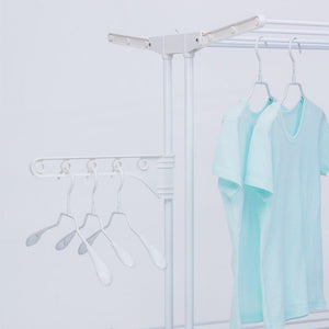 Cheap yubelles 2 tier rolling clothes drying rack collapsible laundry dryer hanger foldable durable hanging rods indoor outdoor use white