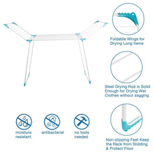 Load image into Gallery viewer, Best drynatural clothes drying rack foldable compact metal laundry drying rack featured extra large size rustproof 67 32 x 21 05 x 44 5