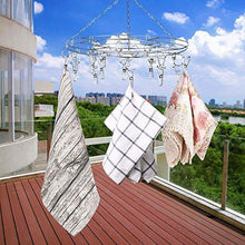 Load image into Gallery viewer, Heavy duty amagoing hanging drying rack laundry drip hanger with 20 clips and 10 replacement for drying socks baby clothes bras towel underwear hat scarf pants gloves