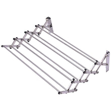 Load image into Gallery viewer, Amazon tangkula wall mount drying rack bathroom home stainless steel laundry drying rack folding clothes rack expandable towel rack 34x25x9stainless steel