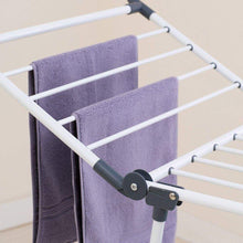 Load image into Gallery viewer, New yubelles gullwing multipurpose clothes drying rack dark grey rustproof collapsible stable durable laundry rack
