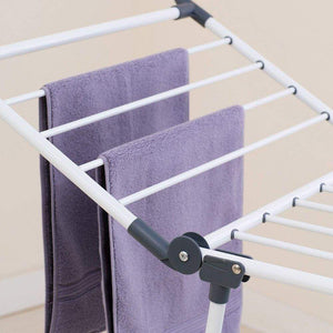 New yubelles gullwing multipurpose clothes drying rack dark grey rustproof collapsible stable durable laundry rack