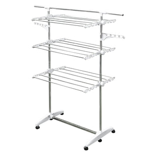 Try stainless drying clothes rack portable rolling drying rack for laundry baby clothes drying hangers rack stainless drying racks for laundry 3 tier drying racks for laundry by kp solutions