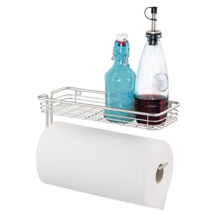 Related interdesign classico paper towel holder with shelf for kitchen laundry garage wall mount satin