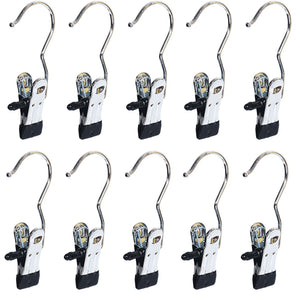 Save baihoo set of 10 laundry hooks pins boot hanger hold hanging clips home travel portable