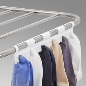 Save on songmics 100 stainless steel clothes drying rack bonus sock clips gullwing space saving laundry rack foldable for indoor and outdoor use ullr51sv
