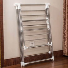 Load image into Gallery viewer, Home soges folding clothes drying rack stainless steel laundry rack dry hanger stand with shoe rack easy storage indoor outdoor use ks k8008