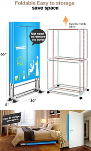 Purchase manatee clothes dryer portable drying rack for laundry 1200w 33 lb capacity energy saving anion folding dryer quick dry efficient mode digital automatic timer with remote control