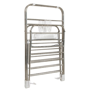 Shop heavy duty laundry drying rack chrome steel clothing shelf for indoor and outdoor use best used for shirts pants towels shoes by everyday home