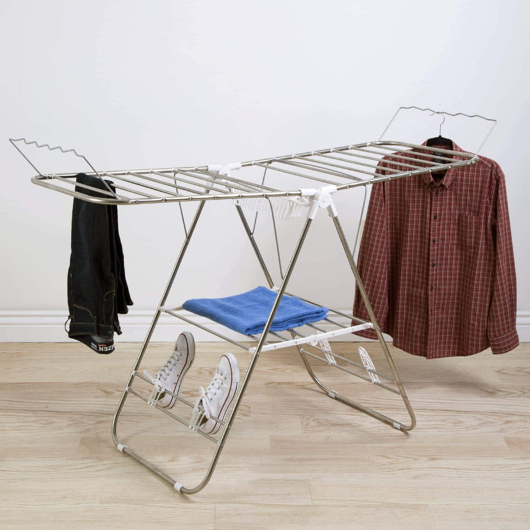 Best seller  heavy duty laundry drying rack stainless steel clothing shelf for indoor and outdoor use best used for shirts pants towels shoes by everyday home