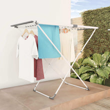 Load image into Gallery viewer, Top rated lavish home extendable clothes drying rack telescoping laundry sorter with rust resistant metal x frame for folding and hanging garments