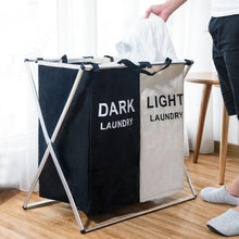 Load image into Gallery viewer, Laundry Sorter Hamper - Divided Laundry Basker for Light and Dark Clothes - Storage Baskets - PurpliKi