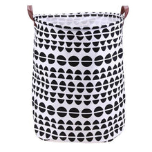 Load image into Gallery viewer, Folding Laundry Basket Cartoon Storage Barrel Standing