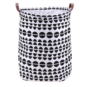 Folding Laundry Basket Cartoon Storage Barrel Standing