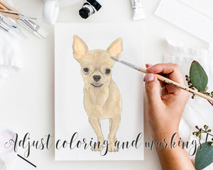 Personalized Chihuahua (Short Haired, Black & Tan) Fine Art Prints
