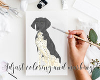 Personalized German Shorthaired Pointer (Black) Fine Art Prints