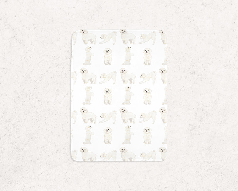 White Floof Fleece Baby Blanket