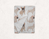 Masked French Bulldog Fleece Baby Blanket