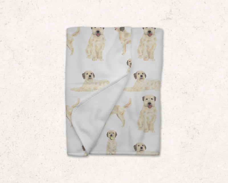 Fleece Wheaten Terrier Baby Blanket