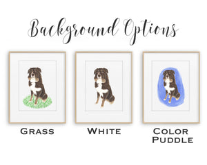 Personalized Corgi (Black Headed Tricolor) Fine Art Prints