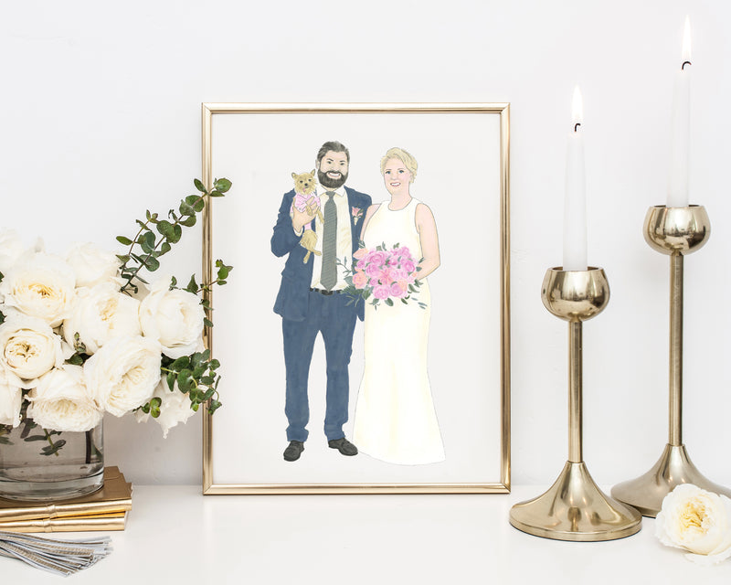 Custom Wedding and Engagement Painting