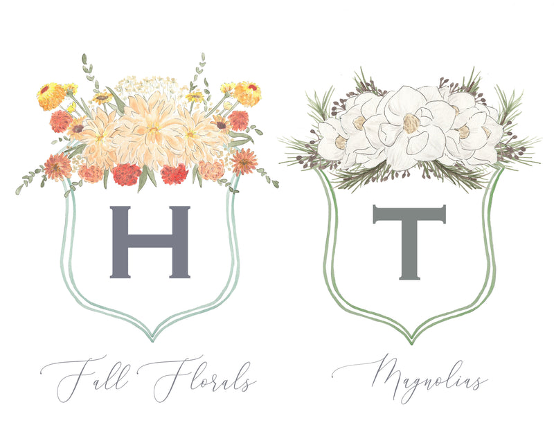 Chihuahua Floral Crest Milestone Cards