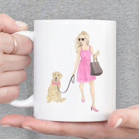 Olivia & The Pied Frenchie 11 oz. Ceramic Mug