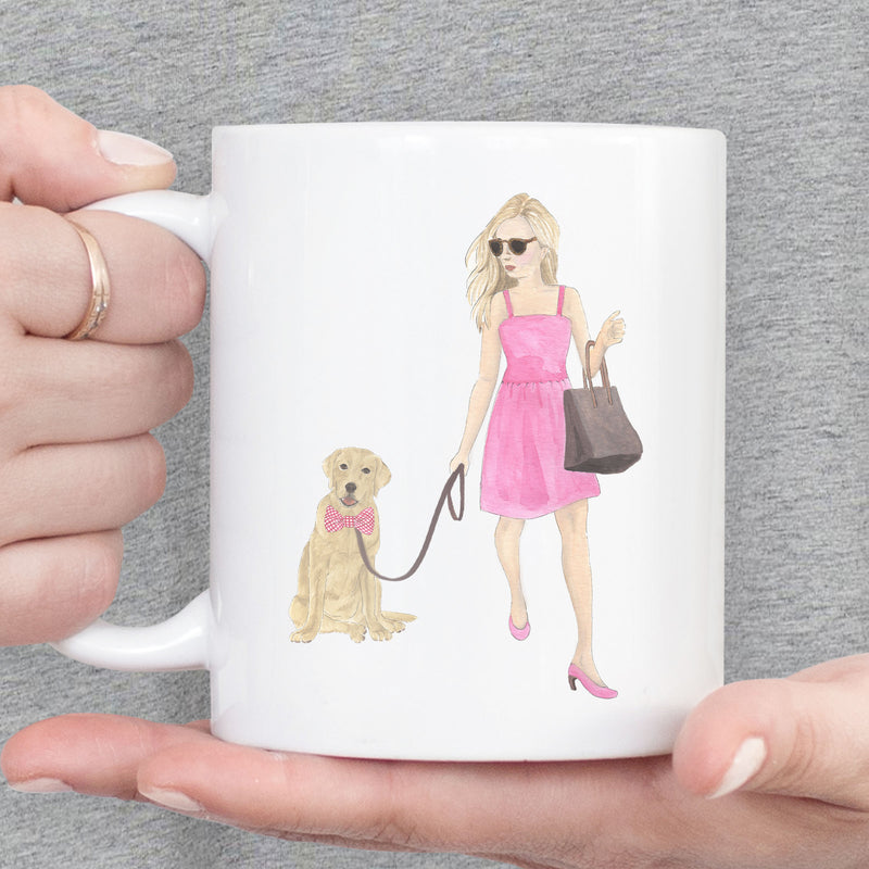 Olivia & The Black Tan Tricolor Frenchie 11 oz. Ceramic Mug