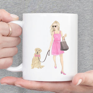 Olivia & The Blue Fawn Tricolor Frenchie 15 oz. Ceramic Mug