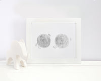 Custom Watercolor Embryo Painting