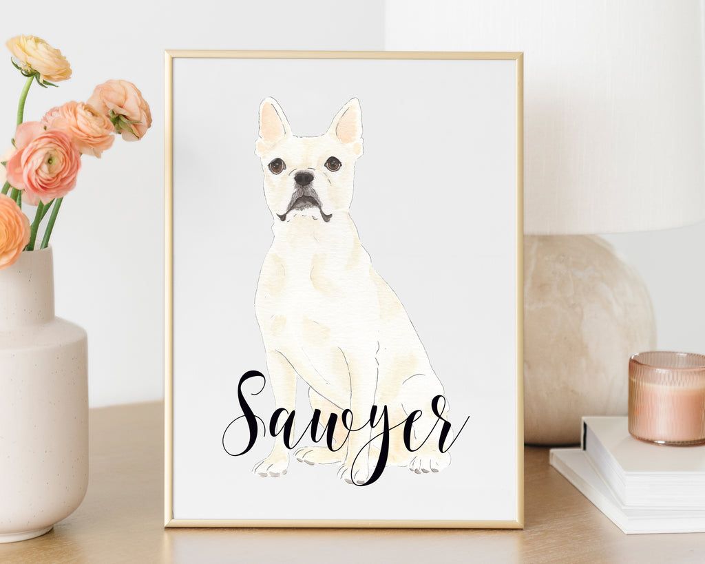 Personalized Boston Terrier Fine Art Print