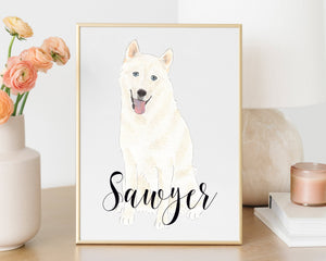 Personalized Husky Fine Art Prints