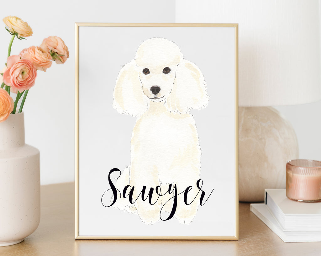 Personalized Poodle Fine Art Print