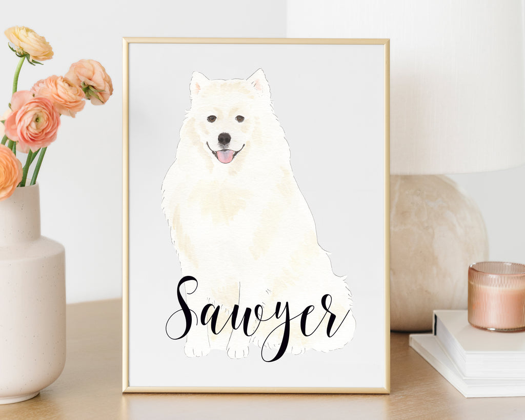 Personalized American Eskimo Fine Art Prints