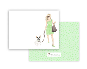 Olivia & The Pied Frenchie Flat Cards (set of 10)