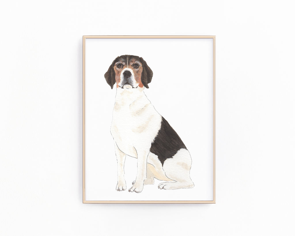 Personalized Beagle Fine Art Prints