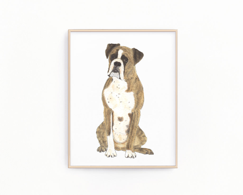 Personalized Boxer (Brindle) Fine Art Prints