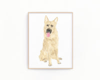 Personalized German Shepherd (Black & Tan) Fine Art Prints