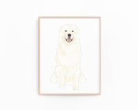Personalized Great Pyrenees Fine Art Prints