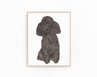 Personalized Poodle (Black) Fine Art Prints